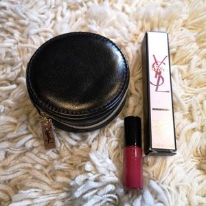 YSL Mon Paris coin pouch beauty makeup lipstick